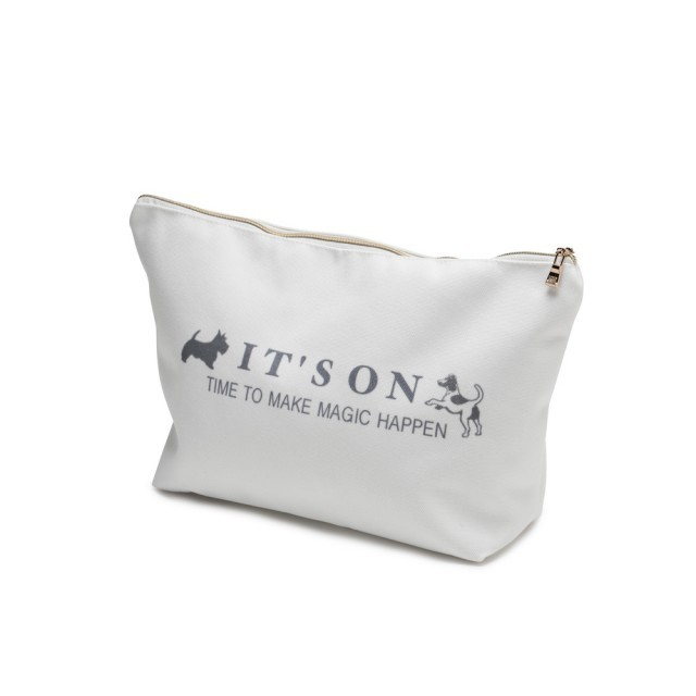 "Large ""It's on"" cosmetics bag"